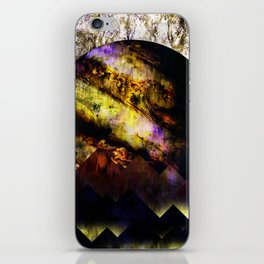 The mountains and the planet iPhone Skin