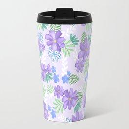 Louisa Lilac Watercolor Flowers Travel Mug