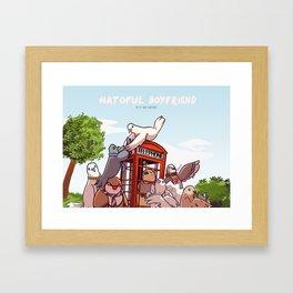 Hatoful Boyfriend - One Direction Parody Framed Art Print