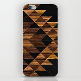 Urban Tribal Pattern 11 - Aztec - Wood iPhone Skin
