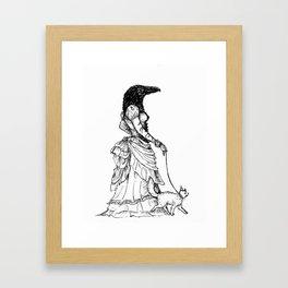 Cat-Walking Framed Art Print