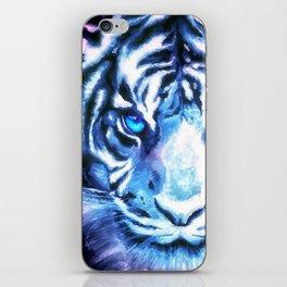 White Tiger | Snow Tiger | Tiger Face | Space Tiger iPhone Skin