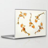 koi fish Laptop & iPad Skins featuring koi fish by Ana Rey