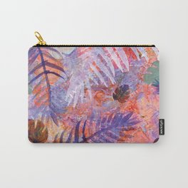 Colourful Palm Electric Garden  #tropical #palm #society6 Carry-All Pouch