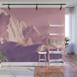 Pink Sherbet - Alaskan Mts. I Wall Mural