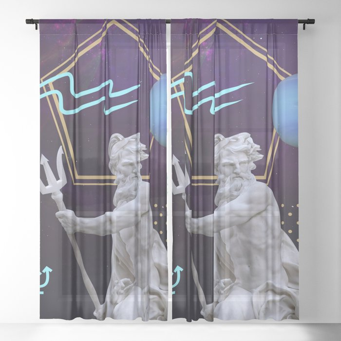 Ancient Gods and Planets: Neptune Sheer Curtain