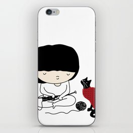 Crazy about wool iPhone Skin