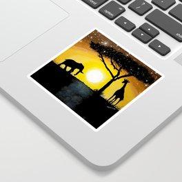 Sunset in Africa Sticker