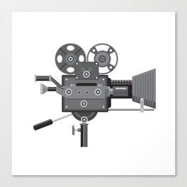 Vintage Movie Film Camera Retro Canvas Print