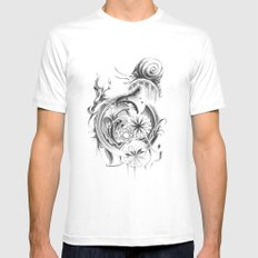 snail Mens Fitted Tee White MEDIUM