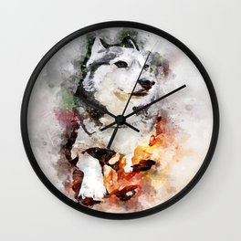 Tika'ani our Siberian Husky Wall Clock