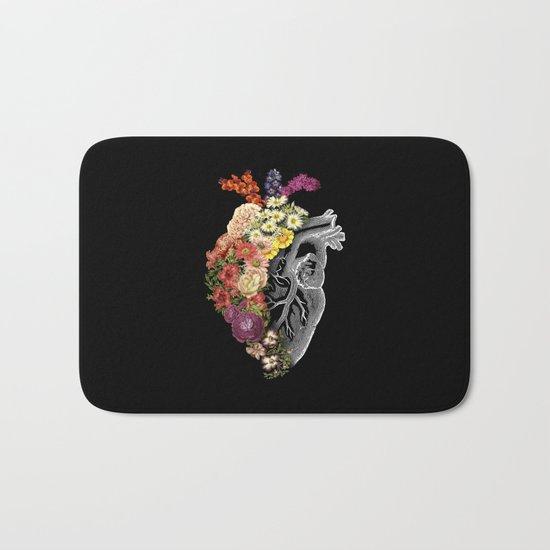 Flower Heart Spring Bath Mat