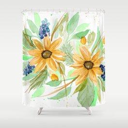 Golden daisies Shower Curtain
