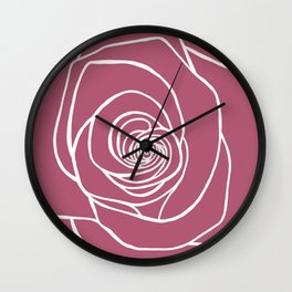 Lipstick Rose Wall Clock