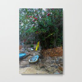 Dreamy Beach View Metal Print