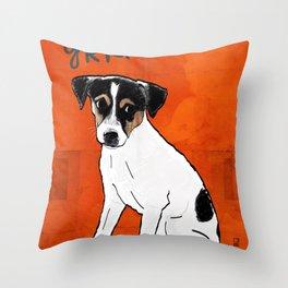 Dog: Rat Terrier Throw Pillow