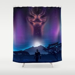 Black Panther Heaven Shower Curtain