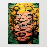 monroe Canvas Prints featuring Monroe by David