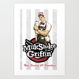 Milkshake Griffin Art Print