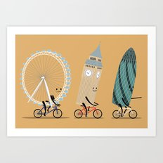 See London On A Bike Art Print