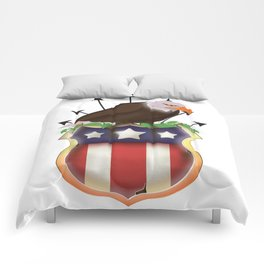 American Golden Eagle Stars and Stripes Comforters