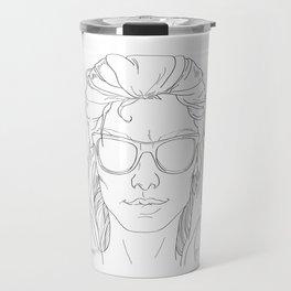 cool summer girl black and white Travel Mug