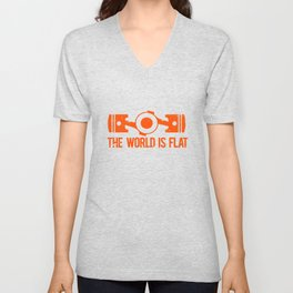 The World is Flat - Flat Engine Unisex V-Neck