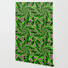 Green And Pink Shapes Fractal Wallpaper