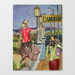 Braving the Seawall Canvas Print