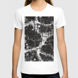 black & white installation T-shirt