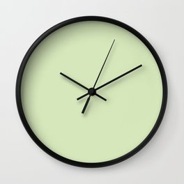 Lime Cream Wall Clock