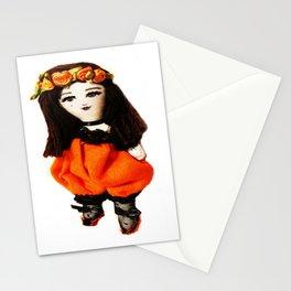 Halloween Pumpkin Doll Stationery Cards