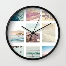 California Dream 9UP 9 Print Wall Clock
