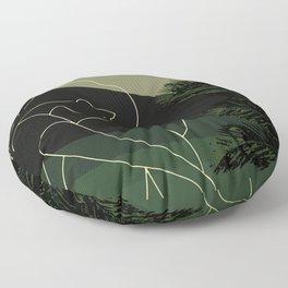 One line woman drawing art abstract woman body line drawing digital art download, Boho Art Print Floor Pillow