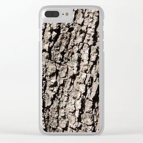 TEXTURES - Valley Oak Tree Bark Clear iPhone Case