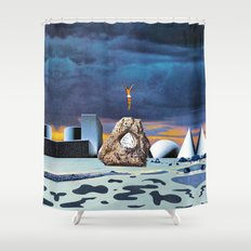 Salt Seeking Salt Shower Curtain