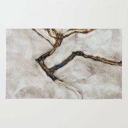 Small Tree in Late Autumn by Egon Schiele Rug