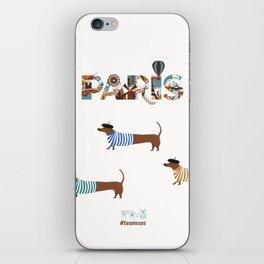 dogs live in paris  iPhone Skin