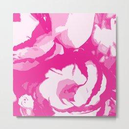 pink lisianthus Metal Print