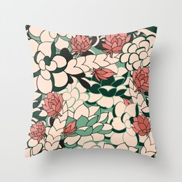 Agave Scculent Throw Pillow