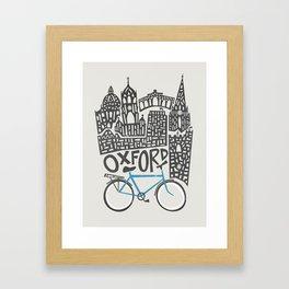 Oxford Cityscape Framed Art Print