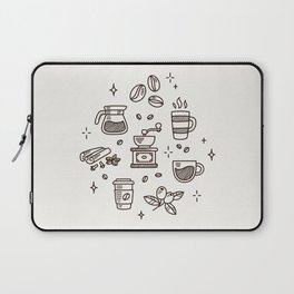 Coffee Doodles Laptop Sleeve
