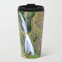 Wahkeena Falls in the Columbia River Gorge Travel Mug