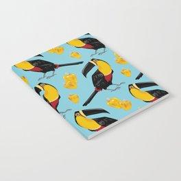 Brazilian Birds & Fruits - Channel-billed Toucan + cashews Notebook