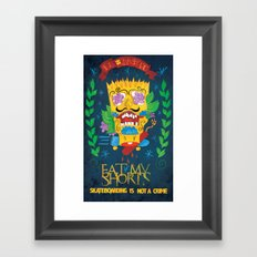 EAT MY SHORTS Framed Art Print