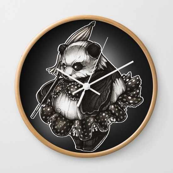 Panda's Day Off Wall Clock