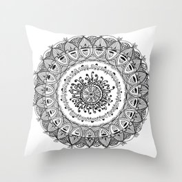 GradualMandala Throw Pillow