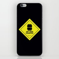 audi iPhone & iPod Skins featuring AIR RIDE EQUIPPED by shedpress