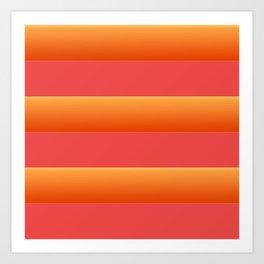 Stripes are back Art Print