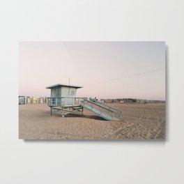 Marina del Rey Lifeguard Tower Metal Print